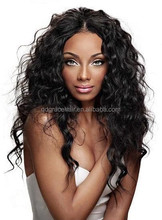 Hot sale long curly thick human hair topper wig