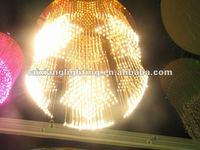 2012 Star good design with color changeable crystal fiber optic chandelier outdoor lighting
