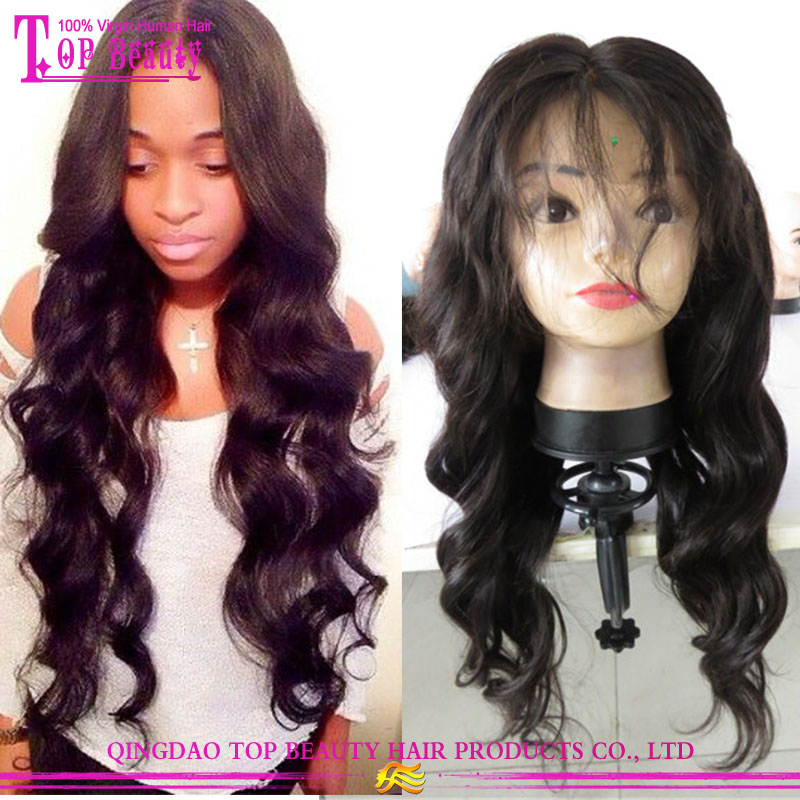 Wholesales india hair remy hair natural color finger wave wig for black women