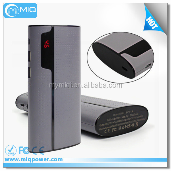 New design fashional style full capacity 50000mAh mobile power bank for iphone,samsung,huawei,htc