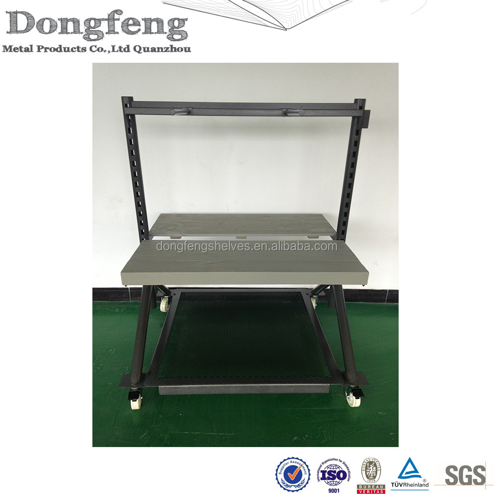 wholsale metal folding utility cart for shoes shop