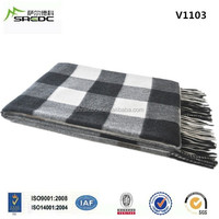 BLUE PHOENIX super soft woven plaid luxury 100% cashmere blanket for dubai