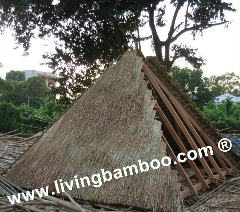 PYRAMID THATCH ROOF NATURAL MATERIAL FOR CONSTRUCTIONS