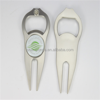 Factory Cheap Golf Divot Custom Marker Divot Tool Golf Bottle Opener