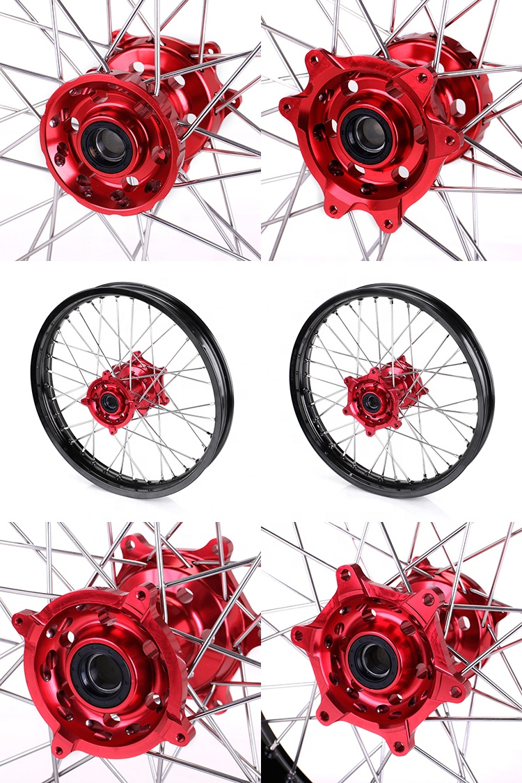 Front 21 Rear 18 Motorcycle rim wheel For Honda CR125R CR250R 2002-2013 CRF250R 2004-2013 CRF450R 2002-2012