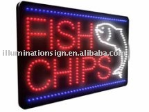 Fish Chips led sign