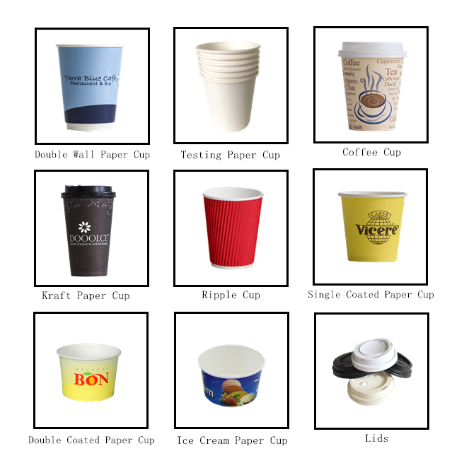 custom logo printed purple coffee paper cups/ take out cups