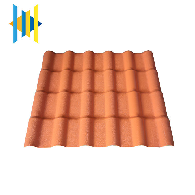 High quality synthetic resin anti corrosion waterproofing sheet roof tile types of long span roof