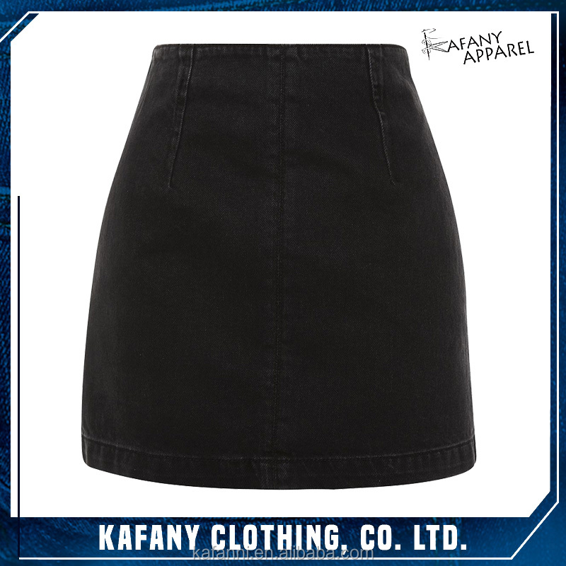 Ladies Sexy New Black Elegant Denim A-Line Skirt