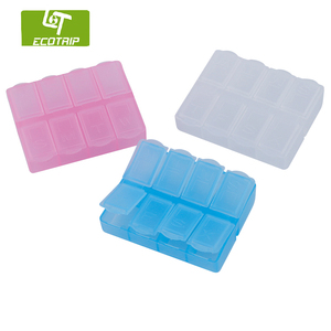 High Quality Wholesale 7 day travel plastic Pill Box