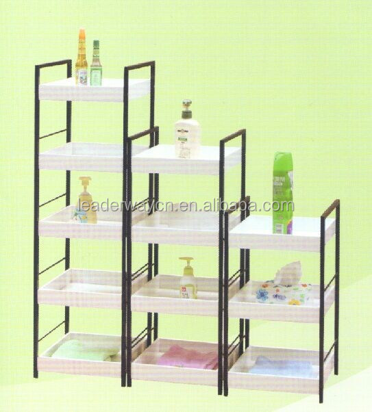 china supplier hot sale wrounght Iron with MDF corner rack