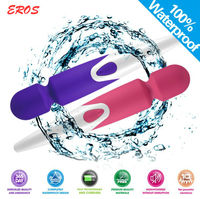 2015 Pretty Body Wand Magic wand vibrator, Pussy stimule silicone massager vibratior with attachments