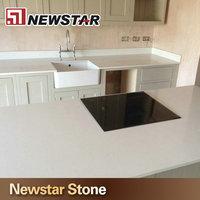 Kitchen Counter Design White Quartz Removable Restaurant Table Tops