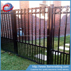 Professional manufacturer supply factory price white wrought iron fence,decorative low price wrought iron fence