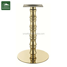 Gold brushed stainless steel material coffee table legs for sale
