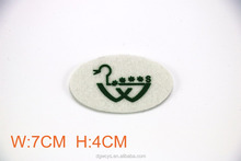 Custom own design silione logo iron on chenille fabric patch