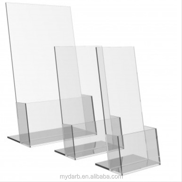 Office display A4 paper file acrylic tray brochure stand holder