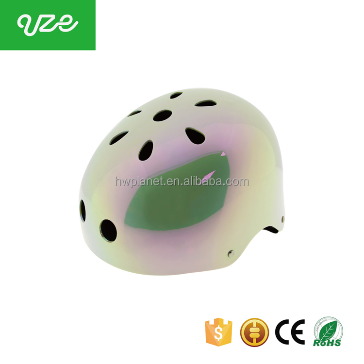 2016 China factory high quality CPSC EN1078 ABS mirror surface sports helmet