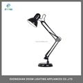 Modern european style black color office desk lamp, brightness for reading with E27 socket