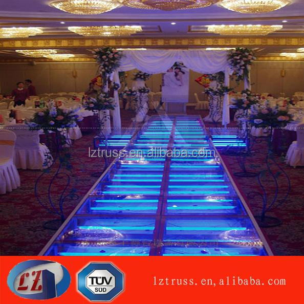 mobile led exhibition stage acrylic wedding stage