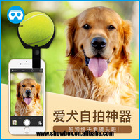 2016 hot selling pet selfie for catch attention tennis smartphone clip camera accessory dog selfie cat selfie