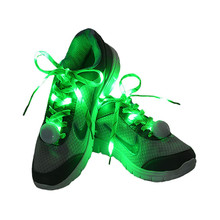 Novelty design glow in the dark flashing light up led shoe laces