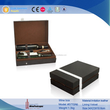 Hot Sales Leather Wine Box, Gift Case With Wine Tools Set
