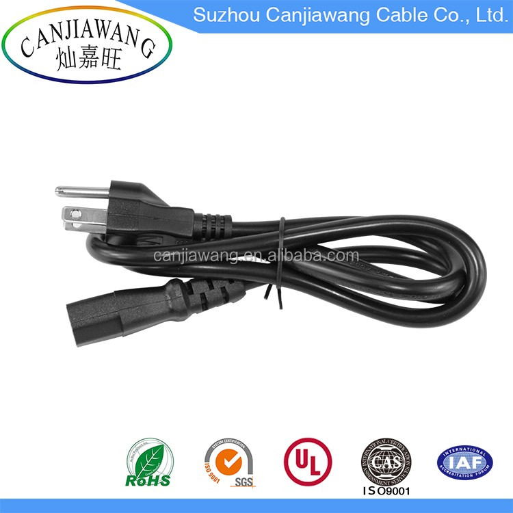 UL power cord 3 pin ac power cord cable iec c13 plug cable