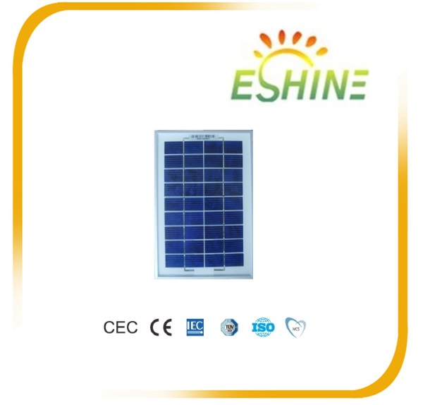 High efficiency cheap price 5w poly small 12v solar panel