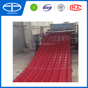 Chinese manufacturer Plastic spanish roof tile/ Synthetic resin spanish roofing sheet/ ASA coating PVC Roofing tile