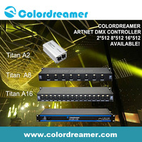 Colordreamer dmx to usb artnet dmx controller interface RJ45 with compatible Madrix 8*512 16*512