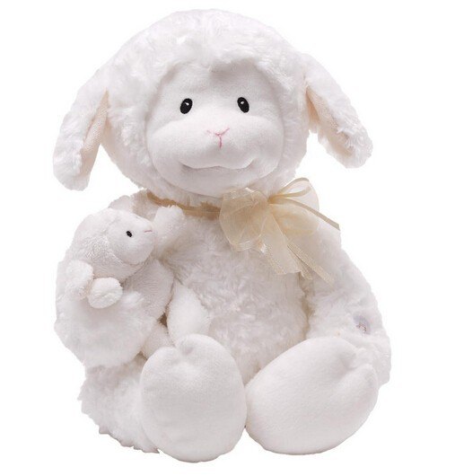 Plush Electronic Lamb Open Mouth to Singing Toy/Stufferd Sound Toy Sheep by Press Button