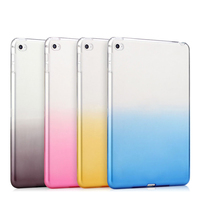 Gradient colored Silicone Soft TPU back cover tablet case For iPad mini 2 3 4 Air 1 Pro 9.7 12.9