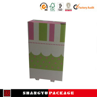 Simple design folding box for hair extension paper box