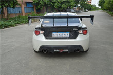 Real carbon fiber Swan neck GT style spoiler wing for GT86 & BRZ also for other brands most sedan carbon black