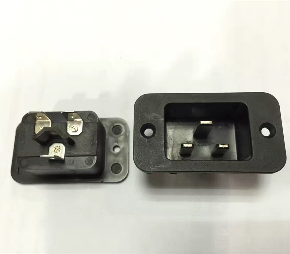 IEC 320 Male C20 socket outlet 3pin china power plug connector