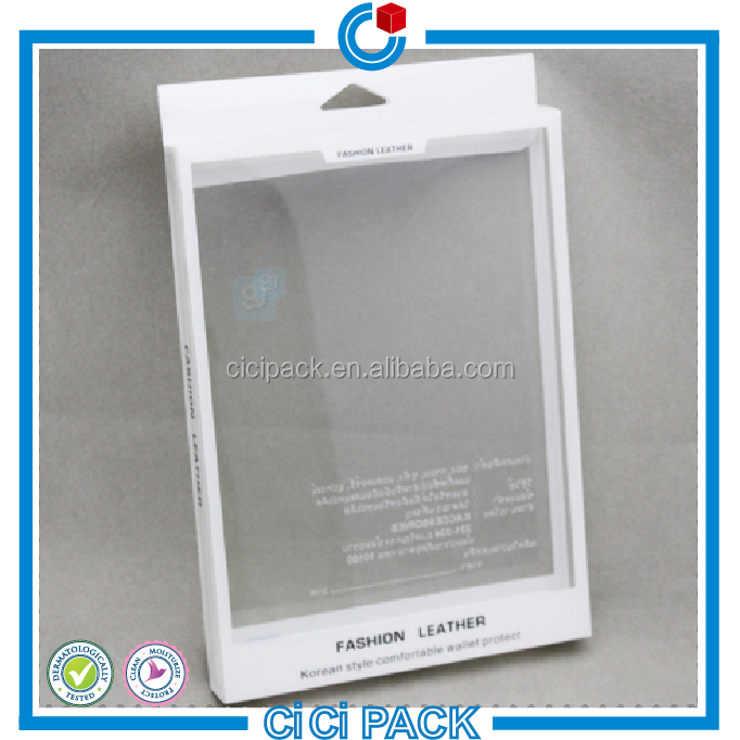 Transparent white plastic free sample phone case boxes