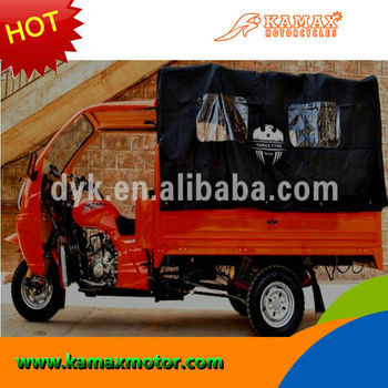 Three Wheel Tarpaulin Covered KA200W-E Gasoline Cargo Tricycle