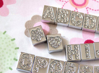 free shipping alphabet jewelry charms alphabet charms wholesale pet collar letter