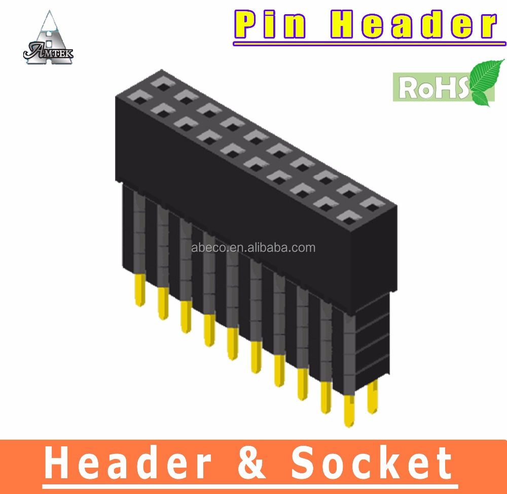 High Quality head pin Connector dual row Female Header