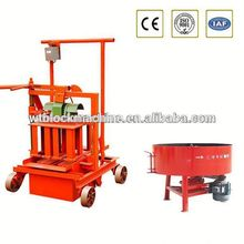 QT40-3C very cheap small concrete block making machine movable