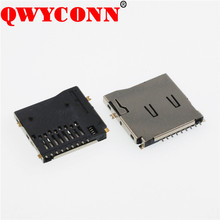 Micro SD Push SMT T-flash Type External welding double tablets 9P Card Connector