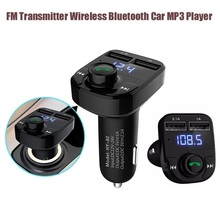 Hot Sale Car mp3 flash player Wireless FM Transmitter Bluetooth V4.0 Hands-Free Calling Car MP3 Player with LED display CX0063