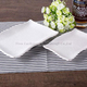 wholesale hotel & restaurant Glossy white square ceramic dinner plates for restaurant