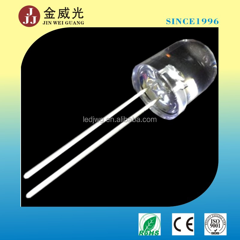 10 mm water clear dip 3 chips 850nm IR led, infrared led, LED emitter long legs