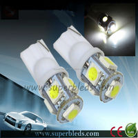 12V Red color Canbus T10 scoket W5W 194 5050chip 5SMD car led dome/dashboard light,auto bulb,car accessory