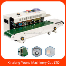 best quality automatic band sealer plastic bag sealing machine with date pressing