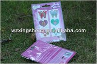 2013 Wholesale fashion promotion pvc sticker Packaging Label fashion jewel seal