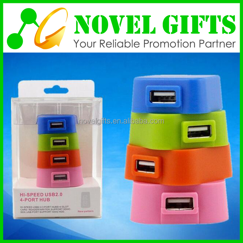 Custom High-speed Tower Shape Rotate 4 Port USB HUB