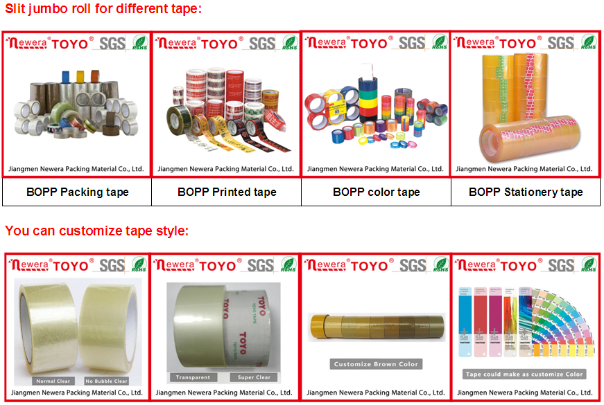 1280mmX4000m Self adhesive bopp jumbo roll tape